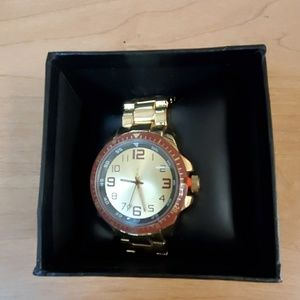Men's FMD Gold Watch With a Gold Band New In Box